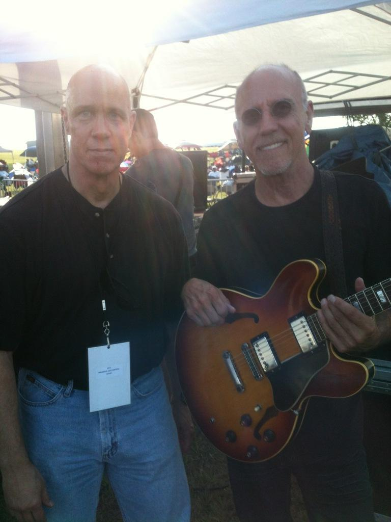 "Me and ""Mr.335"" -- Larry Carlton."
